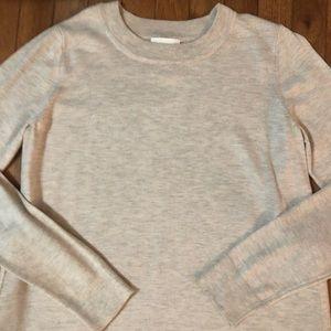 Tan heathered cotton H&M sweater, size M, NWOT